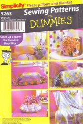 Simplicity 5263 Sewing Pattern for Dummies - Fleece Pillows and A Blanket