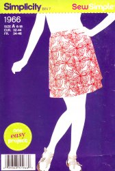 Simplicity 1966 Sewing Pattern-Pull on Two-Tiered Skirt Pattern (6-18) Misses'
