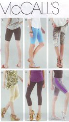 McCall's 6360 Sewing Pattern Women's Leggings in Four Lengths (18W-24W)Pattern