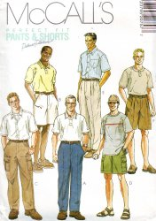 McCall's 2075 Sewing Pattern - Men's Shorts and Pants (42 or 42) Uncut Pattern