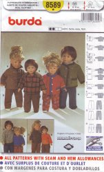 Burda 8589 Sewing Pattern Shirt, Jacket, Pants for Dolls