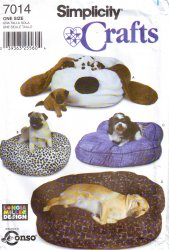Simplicity 7014 Sewing Pattern Floppy Ear Dog Bed Uncut Sewing Pattern