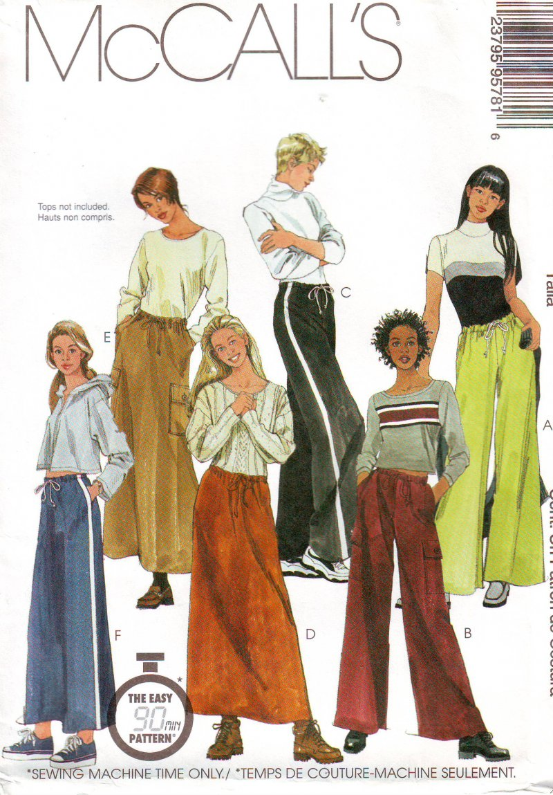 Image 0 of McCall's 9578 Sewing Pattern Misses' Pull-On Pant and Skirt Uncut Pattern