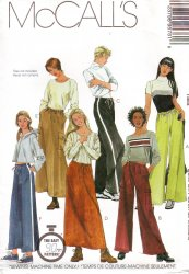 McCall's 9578 Sewing Pattern Misses' Pull-On Pant and Skirt Uncut Pattern