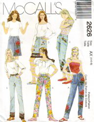 McCall's 2626 (4-6-8) Misses' Pants and Skirt Uncut Sewing Pattern