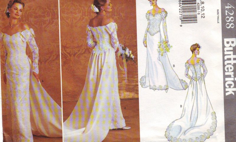 Image 0 of Butterick 4288 ( 6-8-10-12 ) Misses' Bridal Gown Uncut Sewing Pattern