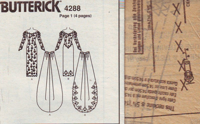 Image 5 of Butterick 4288 ( 6-8-10-12 ) Misses' Bridal Gown Uncut Sewing Pattern