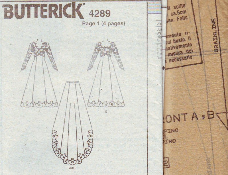Image 5 of Butterick 4289 (6-12) Misses' Bridal Gown Uncut Sewing Pattern