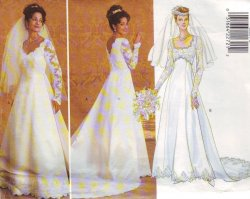 Butterick 4289 (6-12) or (14-18) Misses' Bridal Gown Uncut Sewing Pattern
