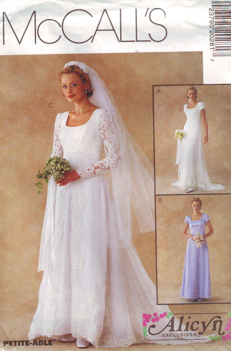 Image 0 of McCall's 2028 (4-6) or (8-12) Misses' Bridal Gown Uncut Sewing Pattern