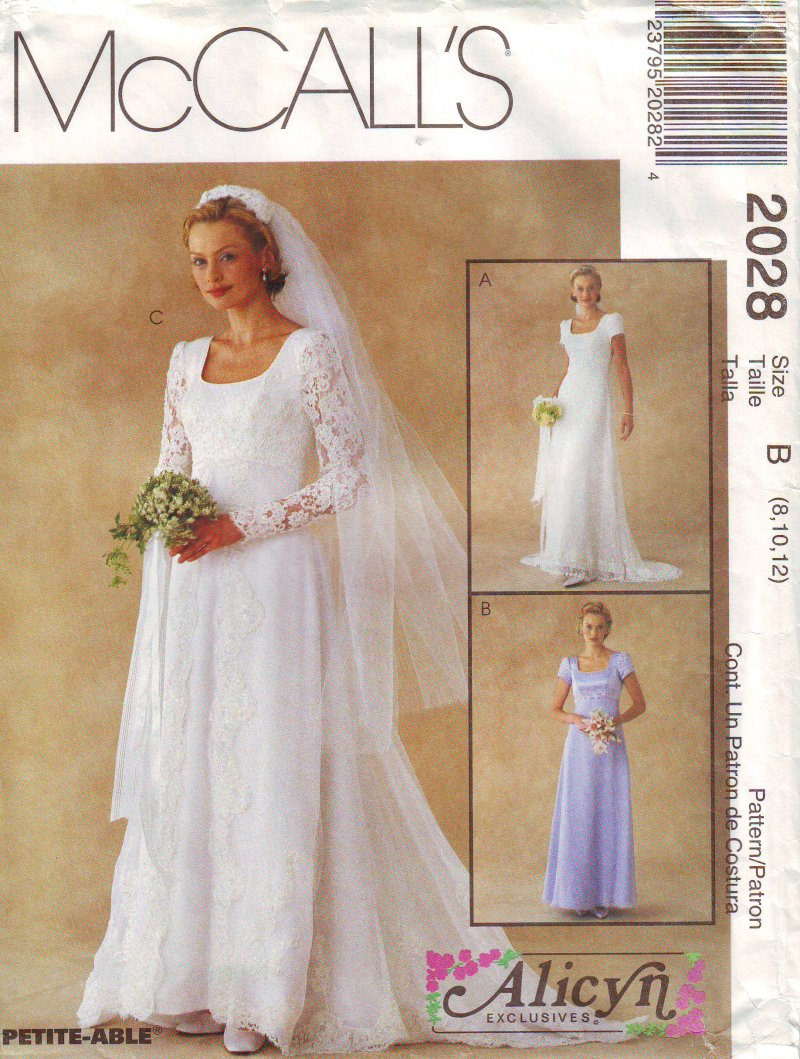 Image 2 of McCall's 2028 (4-6) or (8-12) Misses' Bridal Gown Uncut Sewing Pattern