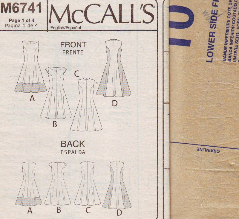 Image 3 of McCalls 6741 Plus Size Womens Fitted and Flared Dress (18W-24W) Sewing Pattern