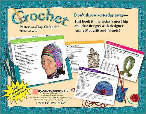 Image 1 of Crochet Pattern-a-Day Calendar, Year 2006,  Annie Modesitt & Friends, Like New