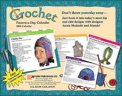 Image 1 of Crochet Pattern-a-Day Calendar, Year 2006,  Annie Modesitt & Friends, Like New