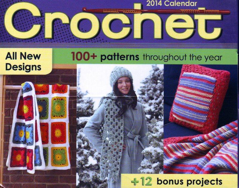 Image 0 of  Crochet Pattern-a-Day Calendar, Year 2014 , Susan Ripley, Like New