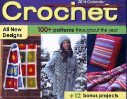 Crochet Pattern-a-Day Calendar, Year 2014 , Susan Ripley, Like New