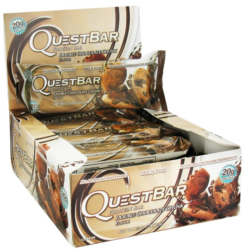 Image 0 of Quest Nutrition, Protein Bar, Double Chocolate Chunk, 12 Bars, 2.12 oz (60 g)