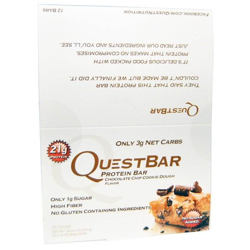 Image 0 of Quest Nutrition, Protein Bar, Chocolate Chip Cookie Dough, 12 Bars, 2.12 oz