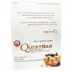 Quest Nutrition, Protein Bar, Chocolate Chip Cookie Dough, 12 Bars, 2.12 oz