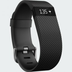 Fitbit Charge HR Heart Rate and Activity Wristband - Black Large