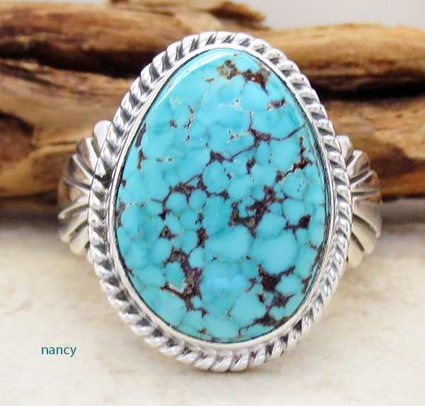Candelaria Turquoise & Sterling Silver Ring size 12 - 1698sn