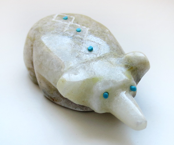 Hand Carved Badger Fetish Zuni Made