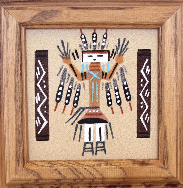 Navajo Female Yei Sandpainting Sand Art - 1993sp