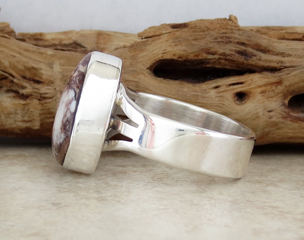 Image 3 of      Navajo Made Wild Horse Stone & Sterling Silver Ring size 9 - 2663sn