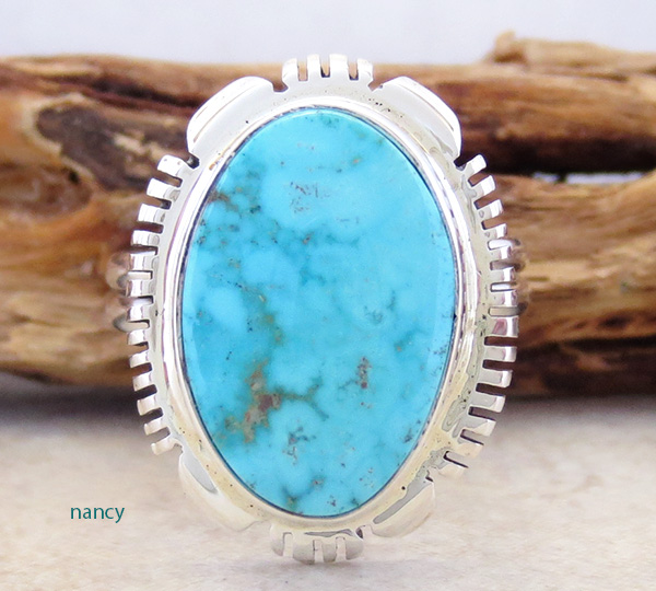 Turquoise & Sterling Silver Ring size 9.5 Navajo - 2667at