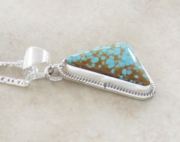 Image 3 of    Navajo Jewelry #8 Mine Turquoise & Sterling Silver Pendant - 3014sn