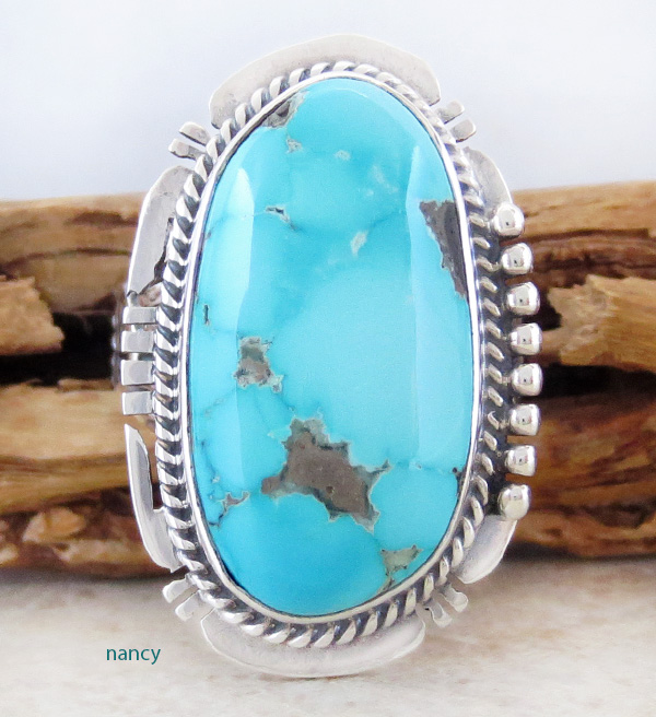 Royston Turquoise & Sterling Silver Ring John Nelson Size 8 - 2754sn
