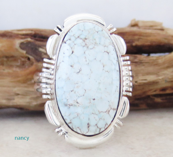 Dry Creek Turquoise & Sterling Silver Ring size 9 Navajo Made - 2699rio