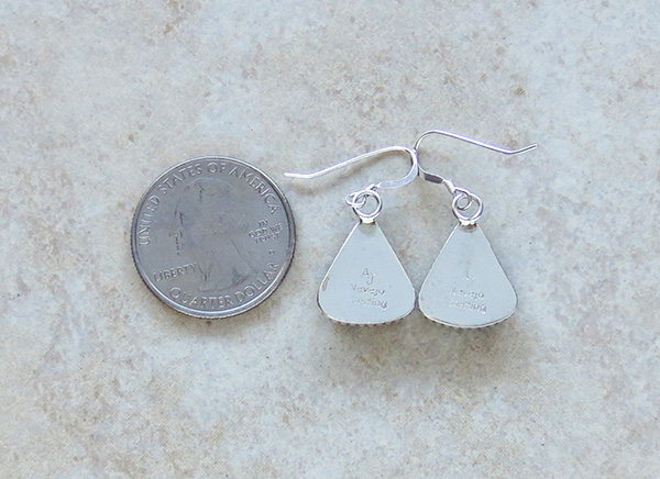 Image 2 of   Wild Horse Stone & Sterling Silver Earrings Navajo Jewelry - 3032rio