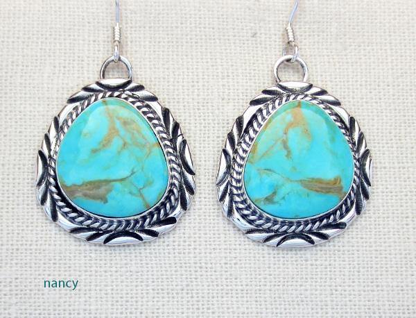 Will Denetdale Navajo Turquoise & Sterling Silver Earrings - 2037pl