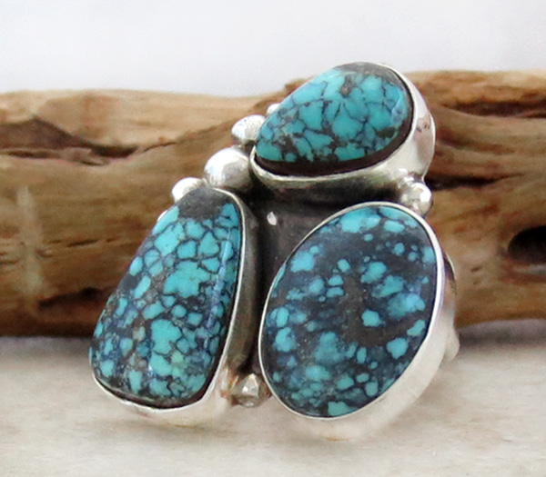 Image 1 of Turquoise & Sterling Silver Ring size 7 Navajo Jewelry - 2275sw