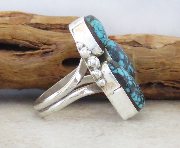 Image 3 of Turquoise & Sterling Silver Ring size 7 Navajo Jewelry - 2275sw