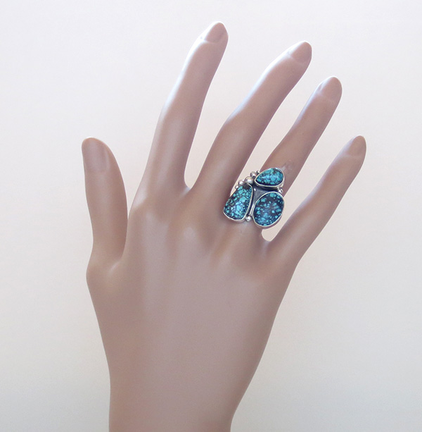 Image 6 of Turquoise & Sterling Silver Ring size 7 Navajo Jewelry - 2275sw