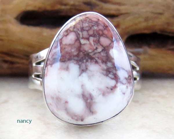 Wild Horse Stone & Sterling Silver Ring Sz 6.75 Native American  - 3049sn
