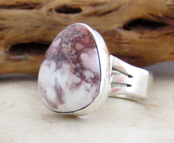 Image 1 of       Wild Horse Stone & Sterling Silver Ring Sz 6.75 Native American  - 3049sn