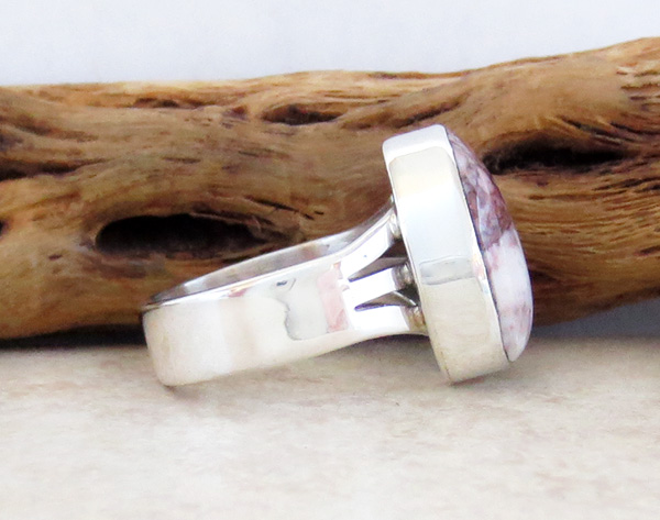 Image 3 of       Wild Horse Stone & Sterling Silver Ring Sz 6.75 Native American  - 3049sn
