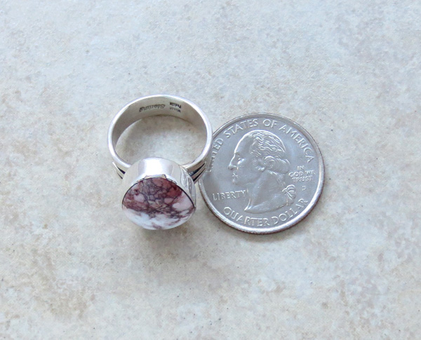 Image 4 of  Wild Horse Stone & Sterling Silver Ring Sz 6.75 Native American  - 3049sn