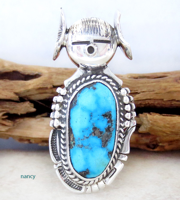 Hopi Maiden Turquoise Kachina Ring sz 8.5 Bennie Ration Navajo - 2819br