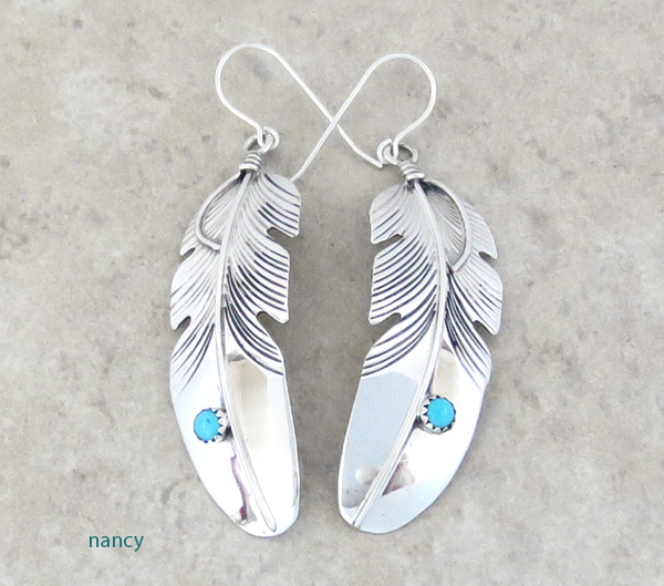 Classic Handcrafted Sterling Silver Feather Earrings Lena Platero - 3104sn