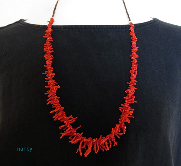 Image 1 of Natural Red Mediterranean Branch Coral Necklace 29