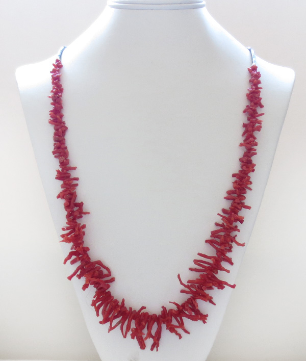 Image 3 of Natural Red Mediterranean Branch Coral Necklace 29