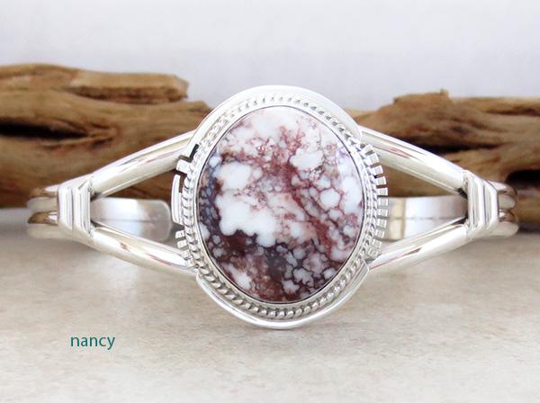 Wild Horse Stone & Sterling Silver Bracelet Cuff Navajo - 2791sn