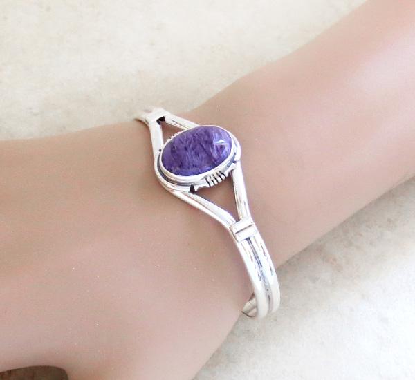 Charoite & Sterling Silver Bracelet Cuff Navajo - 2570sn
