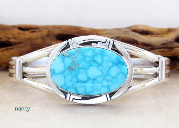 Kingman Turquoise & Sterling Silver Bracelet Cuff Phillip Sanchez