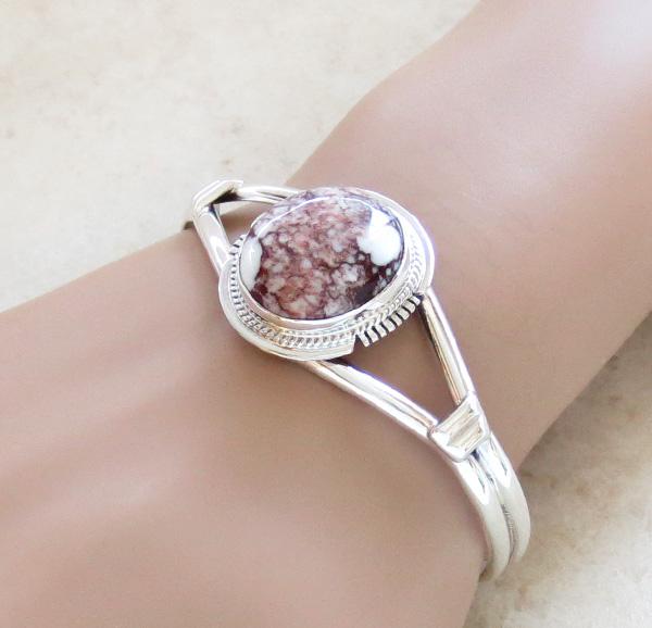 Wild Horse Stone & Sterling Silver Bracelet Cuff Navajo - 1557sn