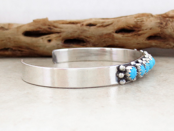 Image 2 of     Turquoise & Sterling Silver Bracelet Native American Jewelry- 2925nm